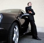 business man at car